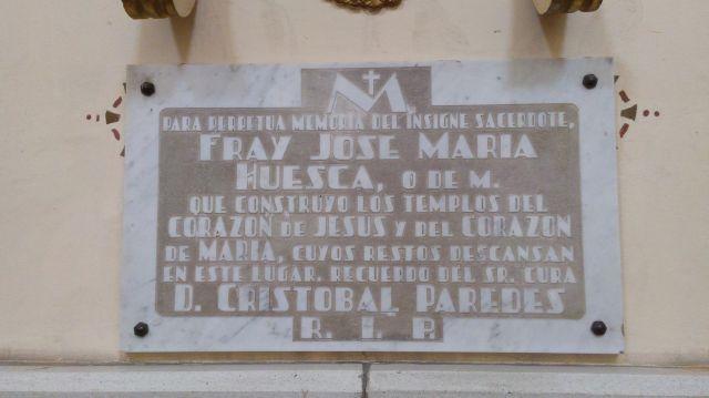 Nicho en Memoria de Fray José María Huesca
