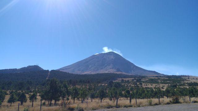 Así Luce Hoy el Popocatépetl en el Parque Nacional Izta Popo