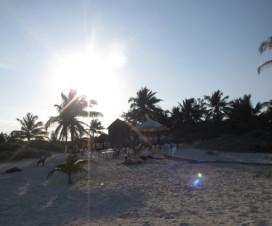 Atardecer en Playa Paraíso Tulum México