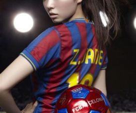 Bellas Chicas Hinchas Porristas Barcelona Fútbol