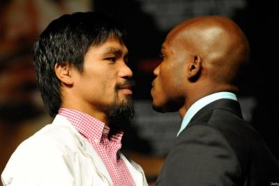Timothy Bradley y Manny Pacquiao