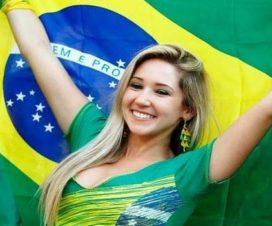 Bellas Chicas Hinchas Brasileiras Fútbol