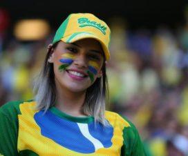 Bellas Chicas Hinchas Brasileñas Fútbol