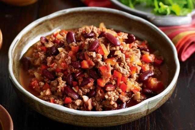 El Clásico Chilli con Carne a la Mexicana Receta