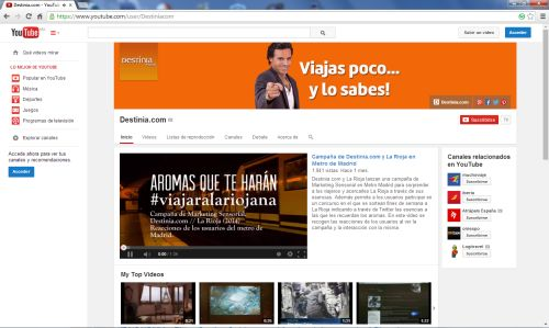Destinia en YouTube
