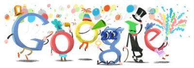 Feliz año 2012 Google Doodle