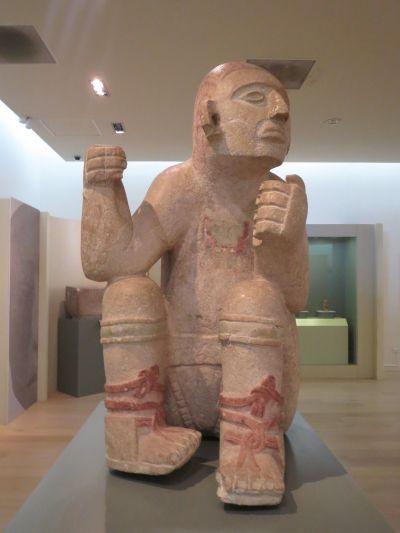 Escultura Maya en el Museo Maya de Cancún