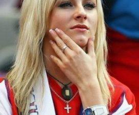 Bellas Chicas Hinchas Eslovenas Fútbol