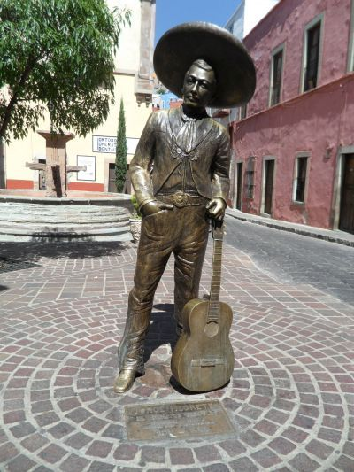 Estatua de Jorge Negrete Ciudad de Guanajuato