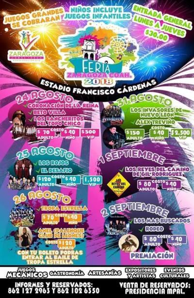 Feria de la Nuez Zaragoza Coahuila 2018