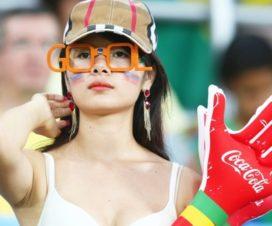 Bellas Chicas Hinchas Coreanas Fútbol