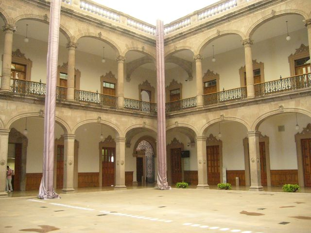 Interior del Palacio de Gobierno Monterrey