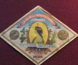 La Hija de Moctezuma de Orizaba Etiqueta 1917