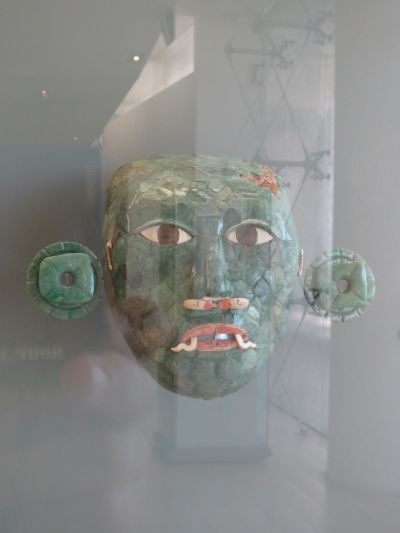 Máscara de Jade en el Museo Maya de Cancún