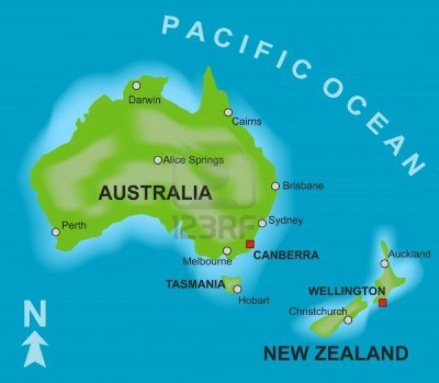 Nueva Zelanda Mapa
