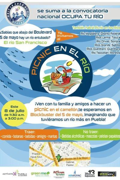 Picnic en el río ocupa tu río Puebla