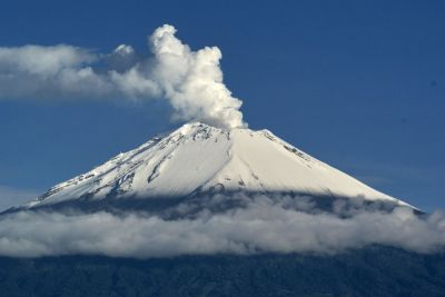 Erupción Volcán Popocatépetl