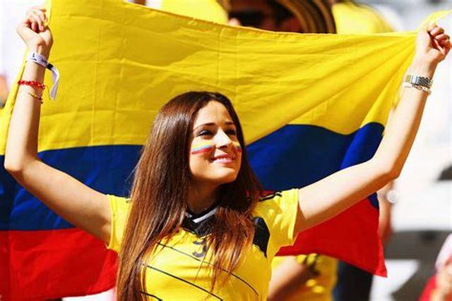 Bellas Chicas Hinchas Colombianas Fútbol