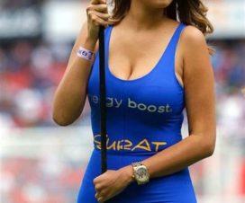 Bellas Chicas Hinchas Porristas Fútbol