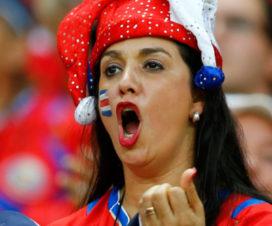Bellas Chicas Hinchas Serbias Fútbol